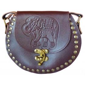 Sac à rivets éléphant gravé