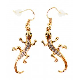 Boucles d'oreilles lézards dorés