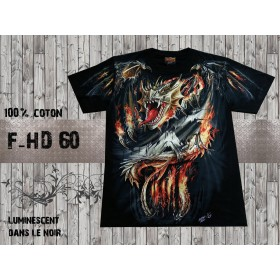 T-shirt dragon luminescent
