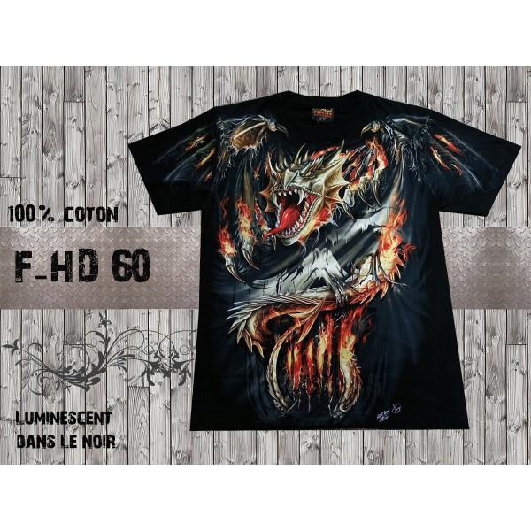 T-shirt dragon luminescent