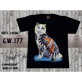 t-shirt Neko irezumi