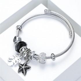 Bracelet bangle acier et strasses
