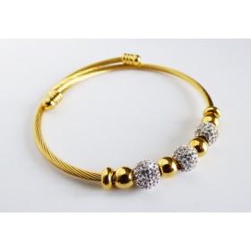 Bracelet extensible doré