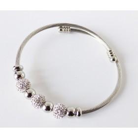 bracelet extensible argenté