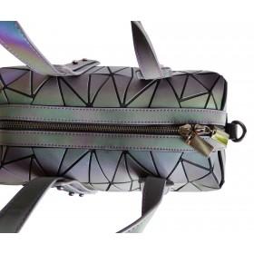 Sac Cubic motifs Diamants à reflets irisés origami