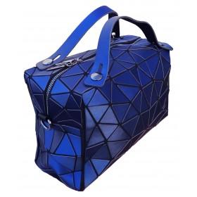 Sac Cubic Origami Diamant bleu
