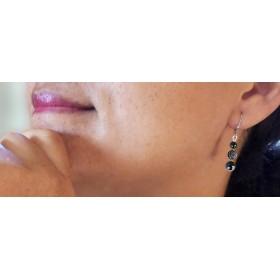 Boucles d'oreilles légères Dark Hématites