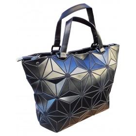 Sac à shopping fleurs noires origami