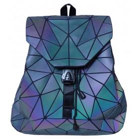 Sac à dos motifs origami diamants couleurs irisées