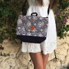Sac transformable Black flowers